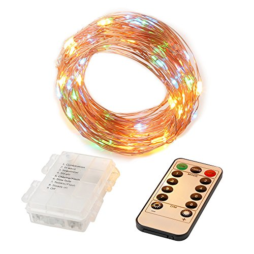 foyoung led string lights 33ft fairy lights battery operated waterproof 8 modes led twinkle. Black Bedroom Furniture Sets. Home Design Ideas